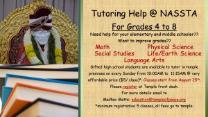 Tutoring Help @NASSTA for Grades 4 to 8