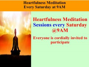 Heartfulness Meditation Sundays @9AM
